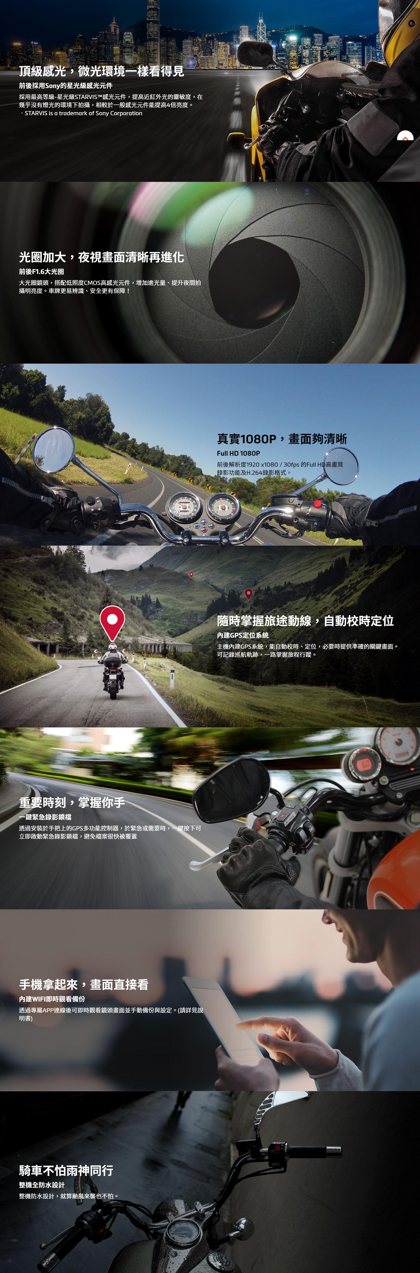 Mio MiVue勁系列 M760D GPS & WiFi 雙鏡頭行車記錄器試用 麻雀雖小五臟俱全